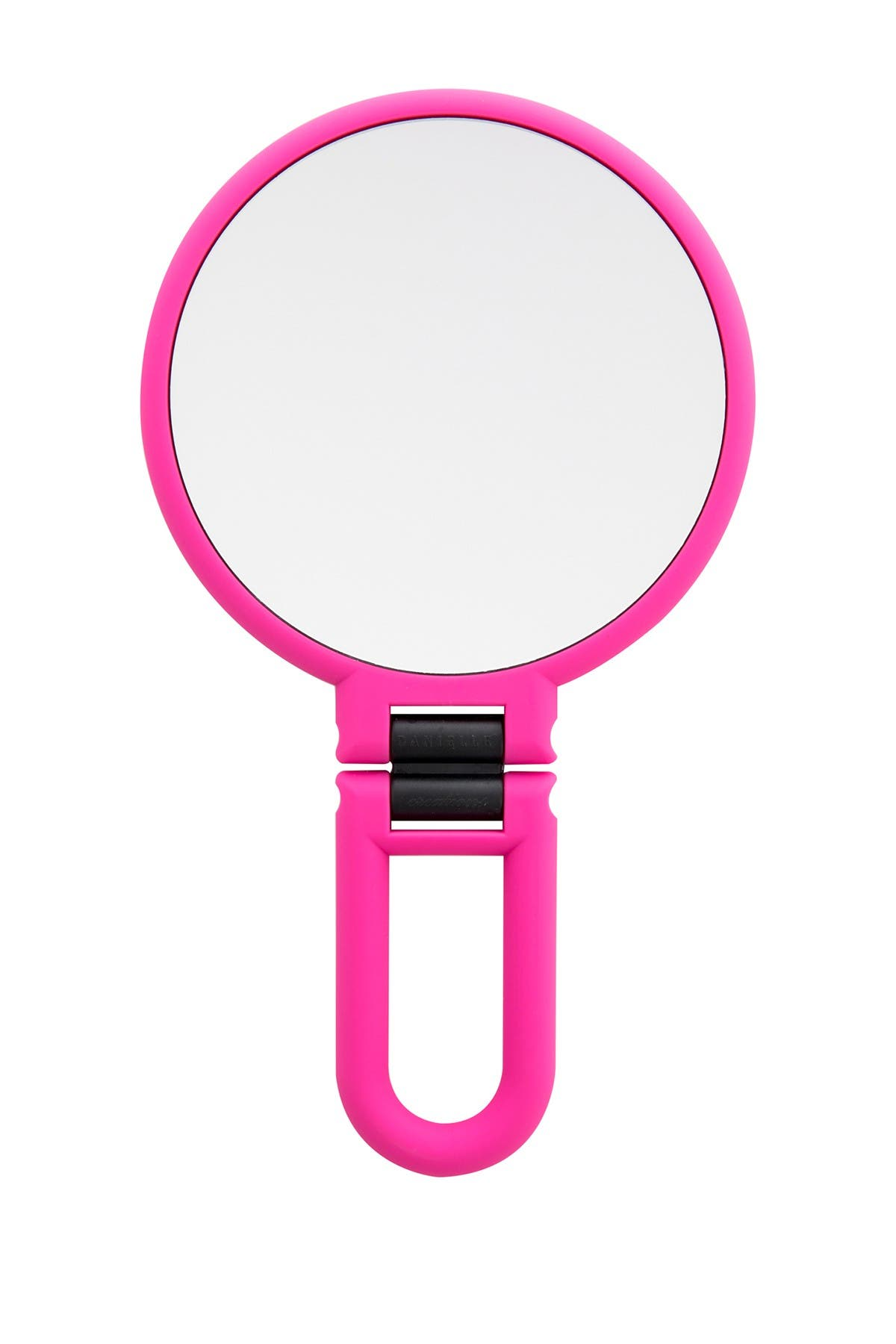Image of UPPER CANADA SOAPS Danielle Soft Touch Hand Held Foldable Mirror - Pink