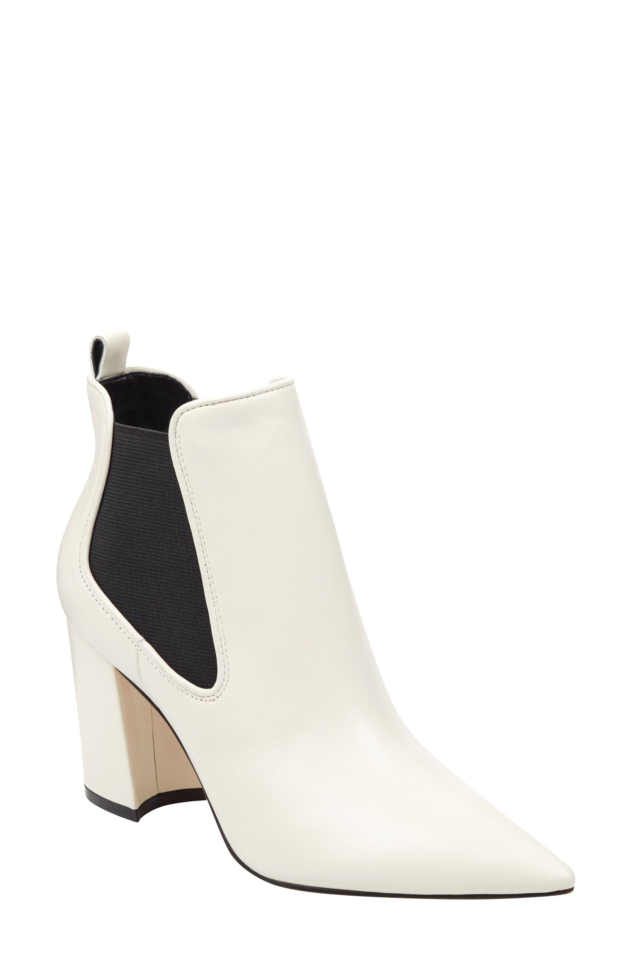 Marc Fisher Ltd Tacily Pointy Toe Bootie- White