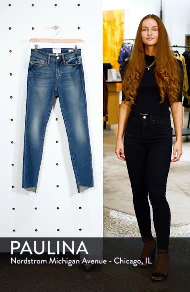 Le Skinny de Jeanne Reverse Cascade Hem Jeans, sales video thumbnail