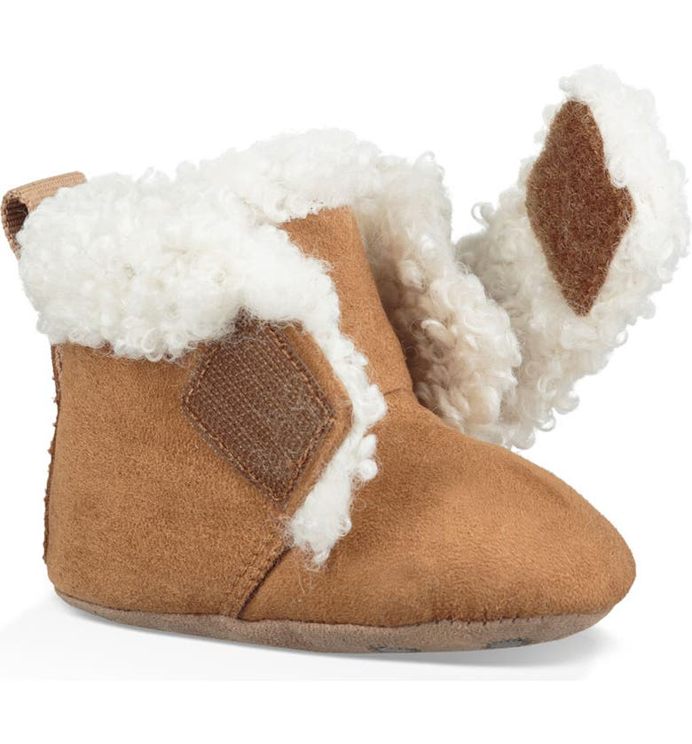 UGG<SUP>®</SUP> Mini Faux Shearling Bootie, Main, color, CHESTNUT