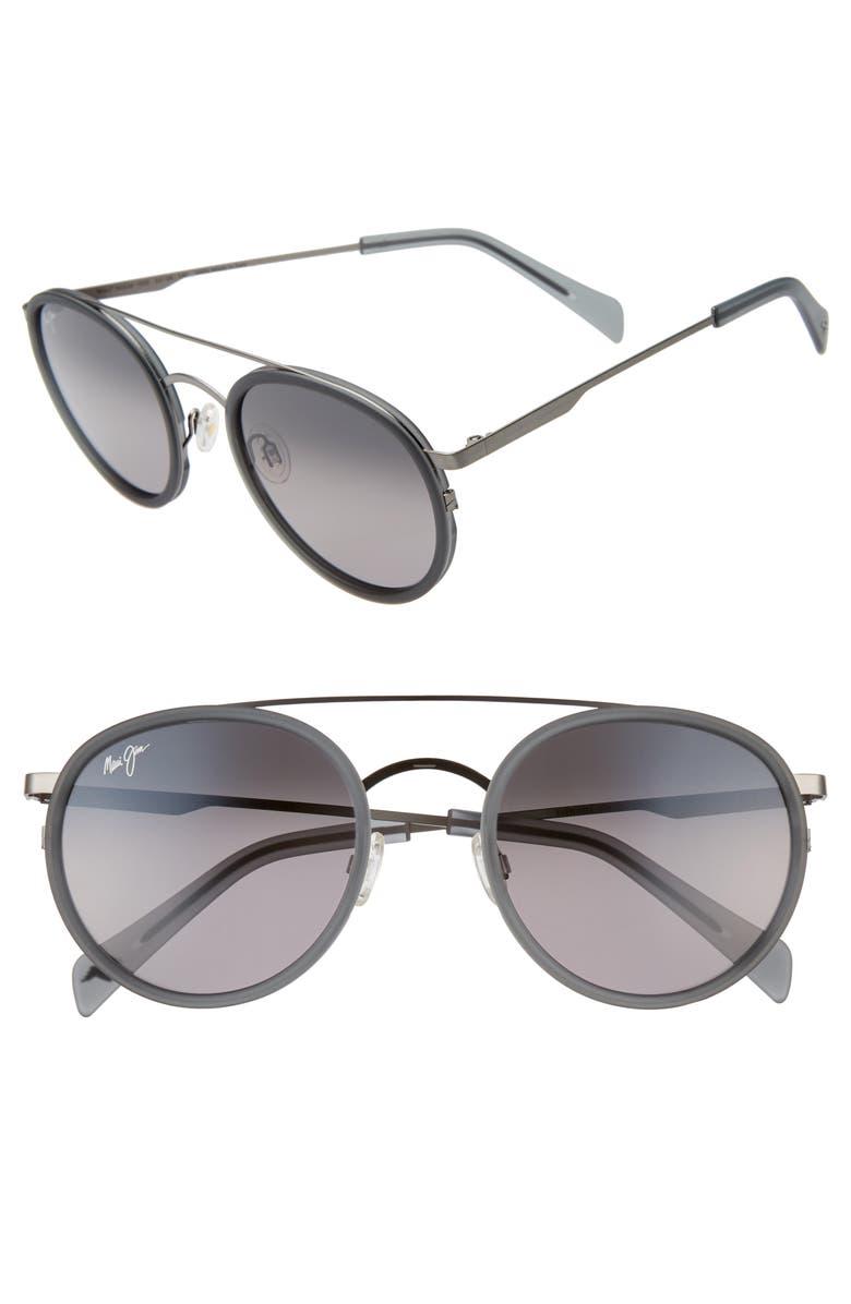 MAUI JIM Even Keel 51mm PolarizedPlus2<sup>®</sup> Sunglasses, Main, color, GREY/ GREY