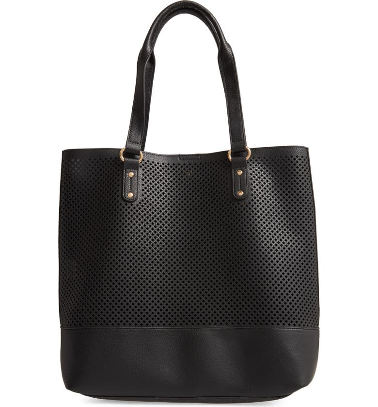 SOLE SOCIETY Nicoh Faux Leather Tote, Main, color, 001