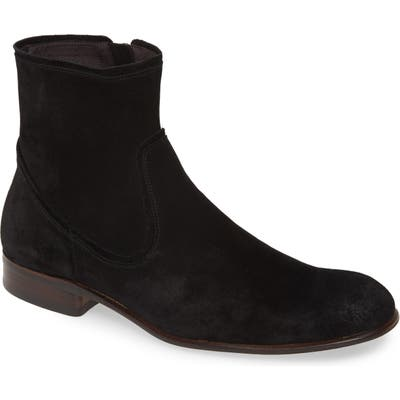 John Varvatos Star Usa Seagher Side Zip Boot- Black
