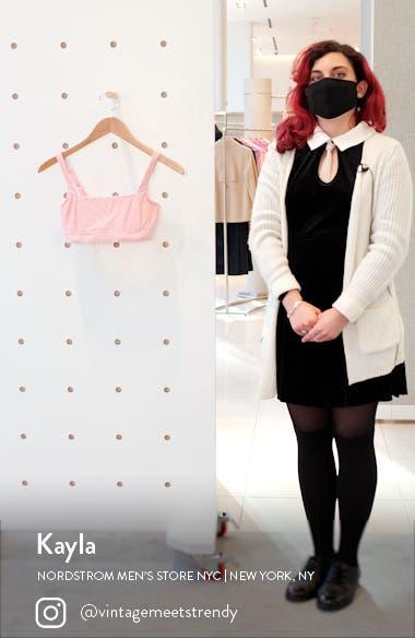 Positano Square Neck Stripe Bralette Bikini Top, sales video thumbnail