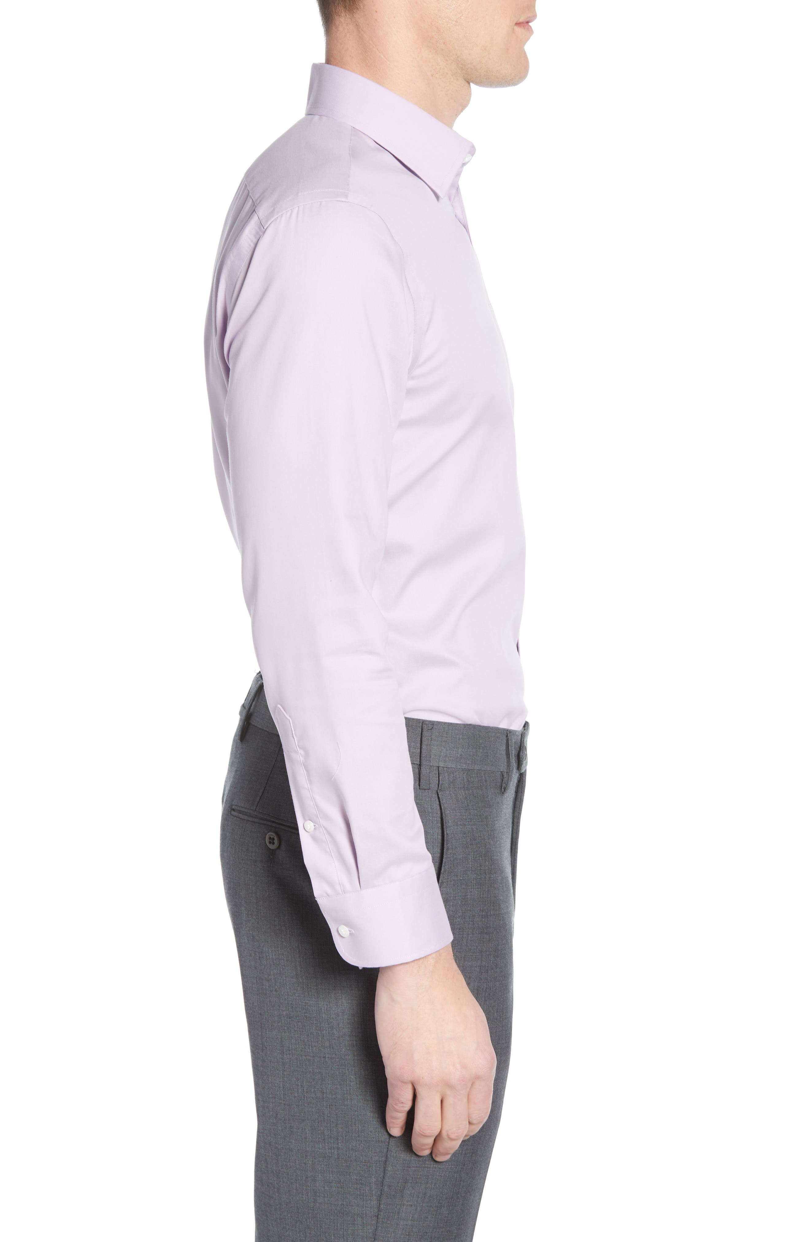 ,                             Extra Trim Fit Non-Iron Solid Dress Shirt,                             Alternate thumbnail 34, color,                             520