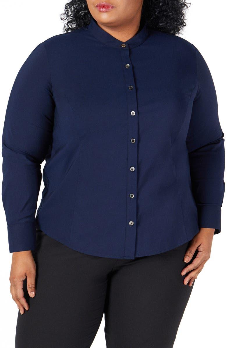 PARI PASSU Button-Up Shirt, Main, color, NAVY