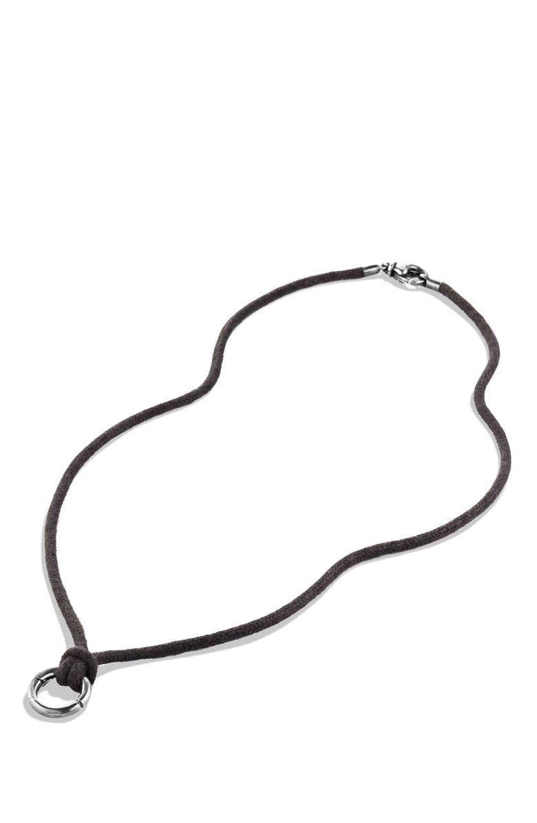 DAVID YURMAN Circle Amulet Holder on Cord Necklace, Main, color, 040