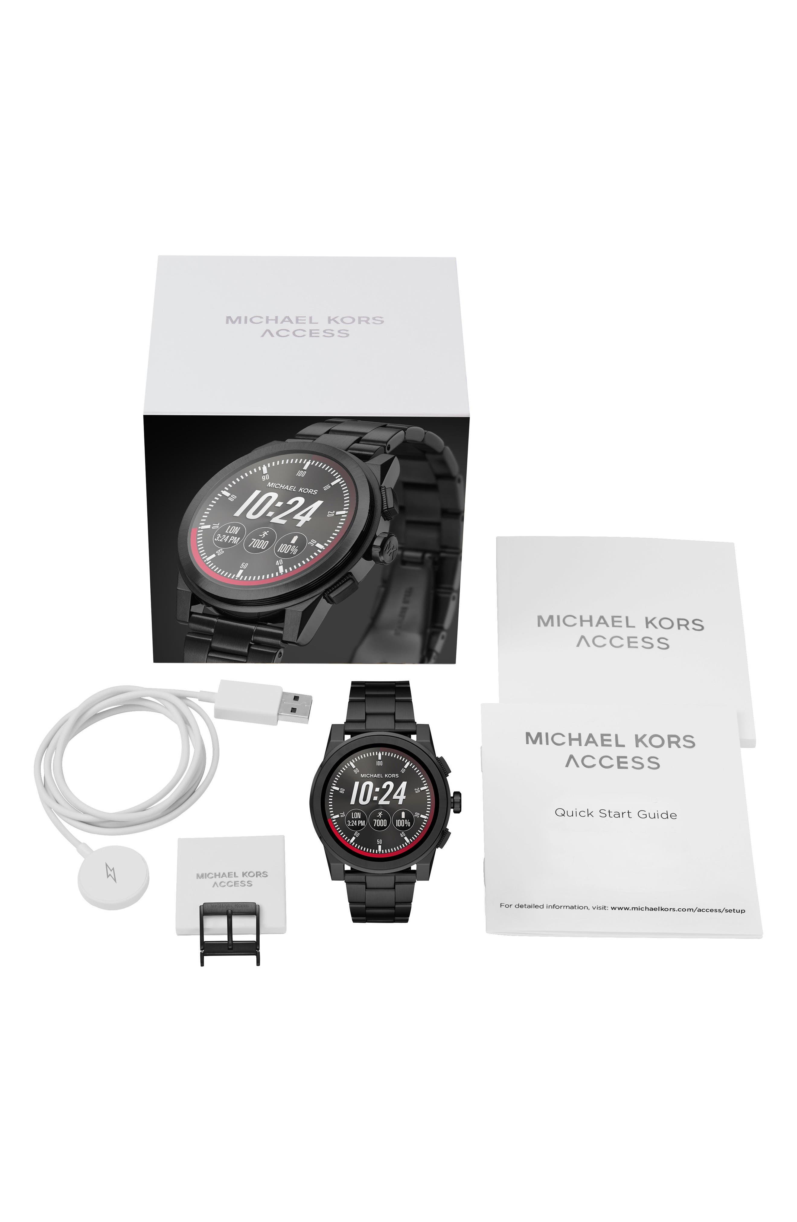 ,                             Grayson Smart Bracelet Watch, 47mm,                             Alternate thumbnail 4, color,                             BLACK