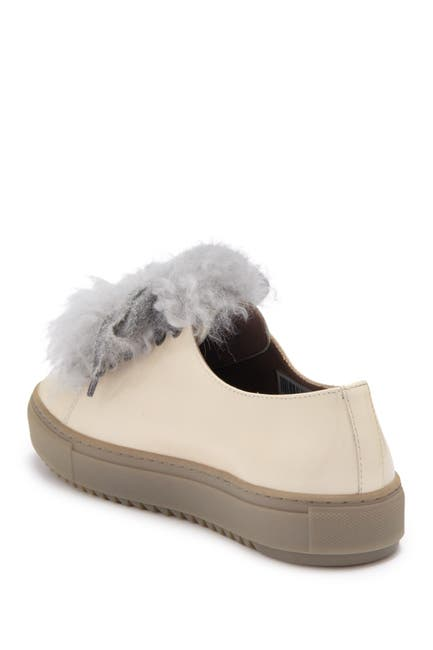 Image of AGL Patent Leather Sneaker With Genuine Sheep Fur Accents