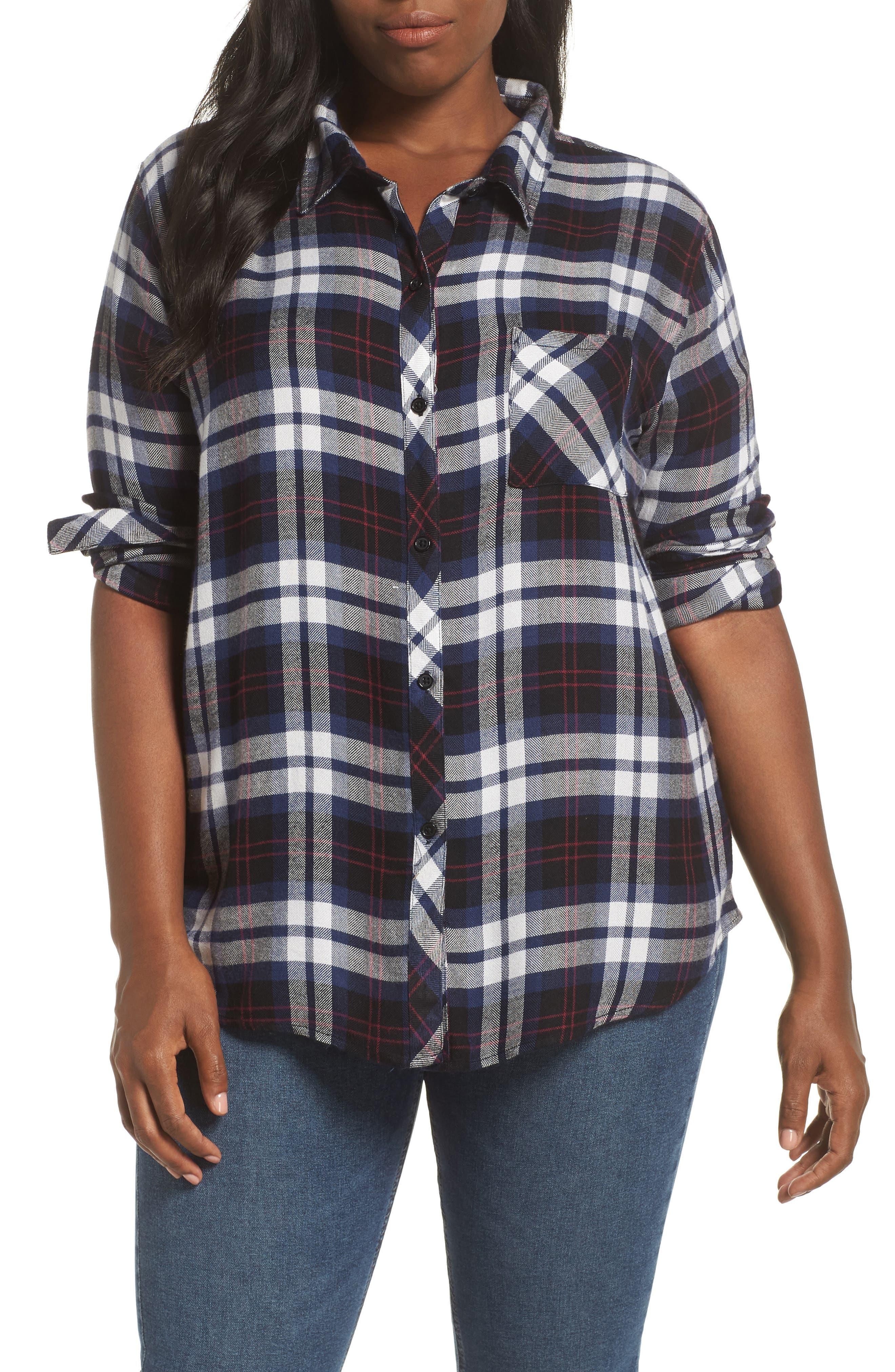 ,                             Hunter Plaid Shirt,                             Alternate thumbnail 320, color,                             409