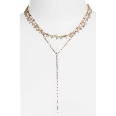 Ela Rae Multistrand Semiprecious Stone Necklace