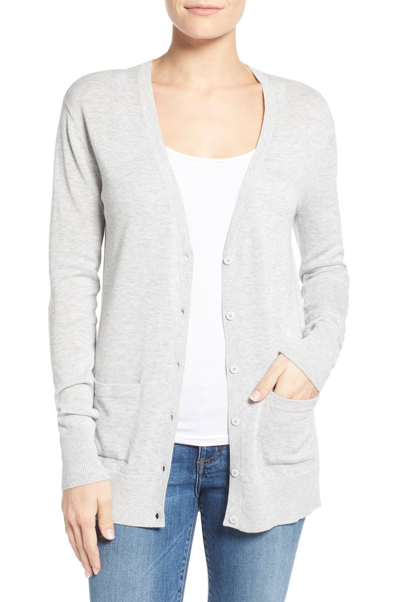 HALOGEN<SUP>®</SUP> V-Neck Cardigan, Main, color, 050