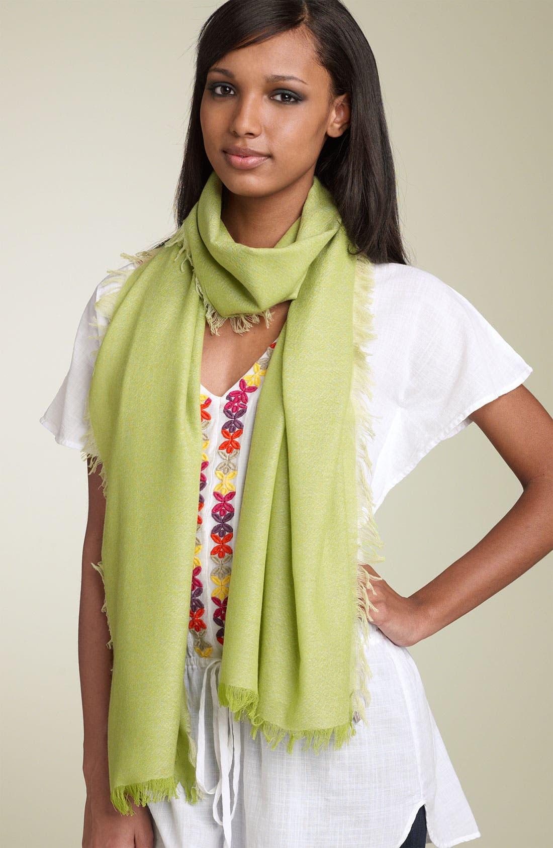 ,                             'Eyelash' Colorblock Cashmere Wrap,                             Main thumbnail 29, color,                             305