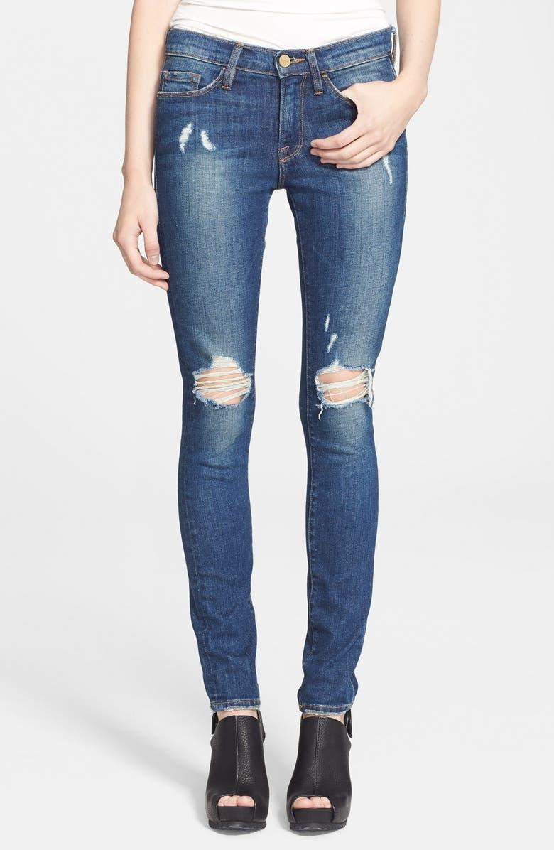 FRAME Denim 'Le Skinny de Jeanne' Destroyed Jeans, Main, color, WALGROVE