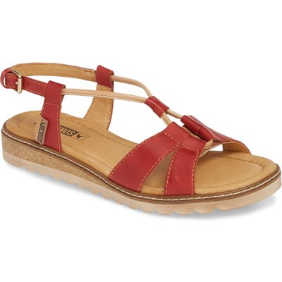 Pikolinos Alcudia Corded Sandal, Red