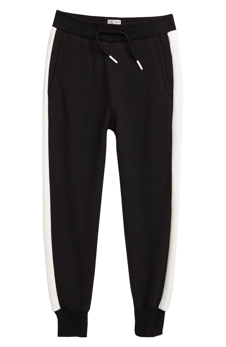 REBEL JAMES & CHARLI Side Stripe Jogger Pants, Main, color, 001