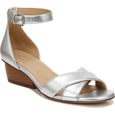 Naturalizer Caine Ankle Strap Sandal, Metallic