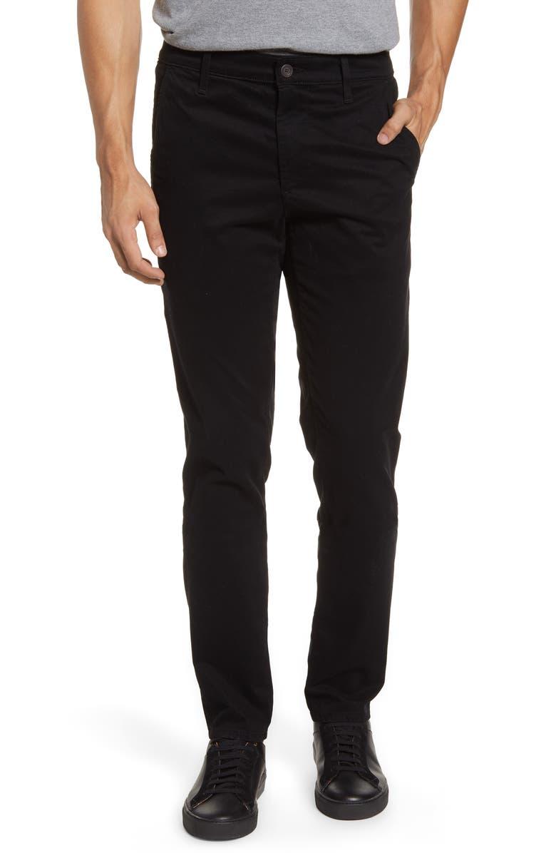 AG Jamison Slim Straight Leg Pants, Main, color, SUPER BLACK