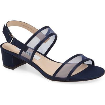 Nina Ganice Mesh Strap Sandal, Blue