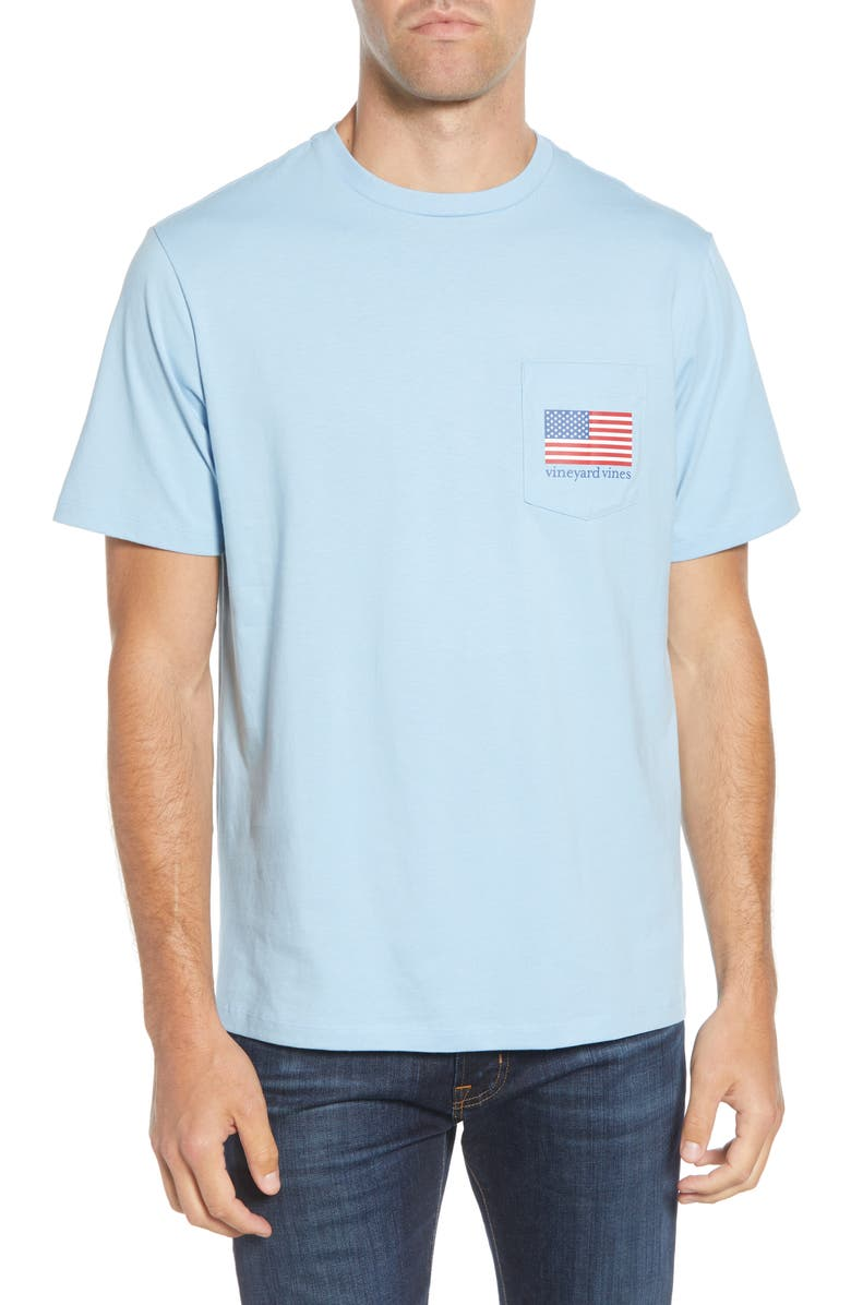 VINEYARD VINES Party in the USA Pocket T-Shirt, Main, color, JAKE BLUE