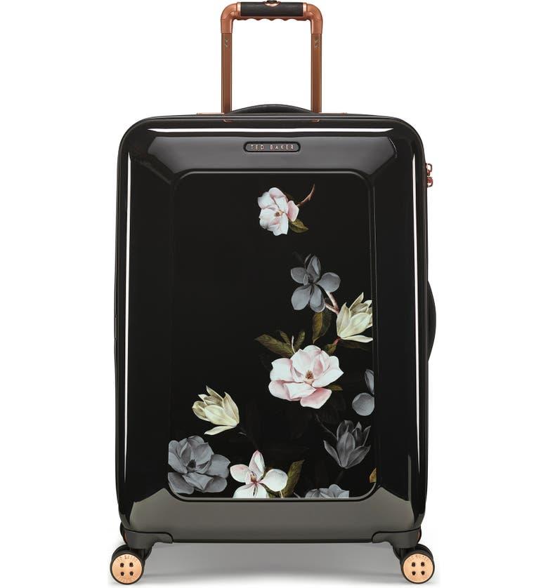 TED BAKER LONDON Medium Take Flight Opal 28-Inch Hard Shell Spinner Suitcase, Main, color, BLACK