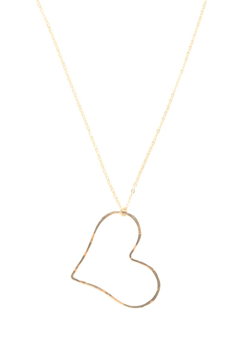 TERESSA LANE JEWELRY Amore Open Heart Pendant Necklace, Main, color, GOLD