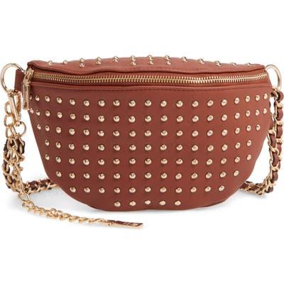 Steve Madden Studded Faux Leather Belt Bag - Brown