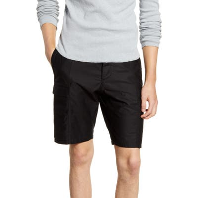 Wings + Horns Utility Cotton Cargo Shorts, Black