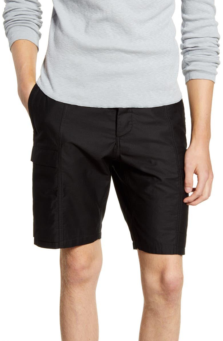 WINGS + HORNS Utility Cotton Cargo Shorts, Main, color, BLACK