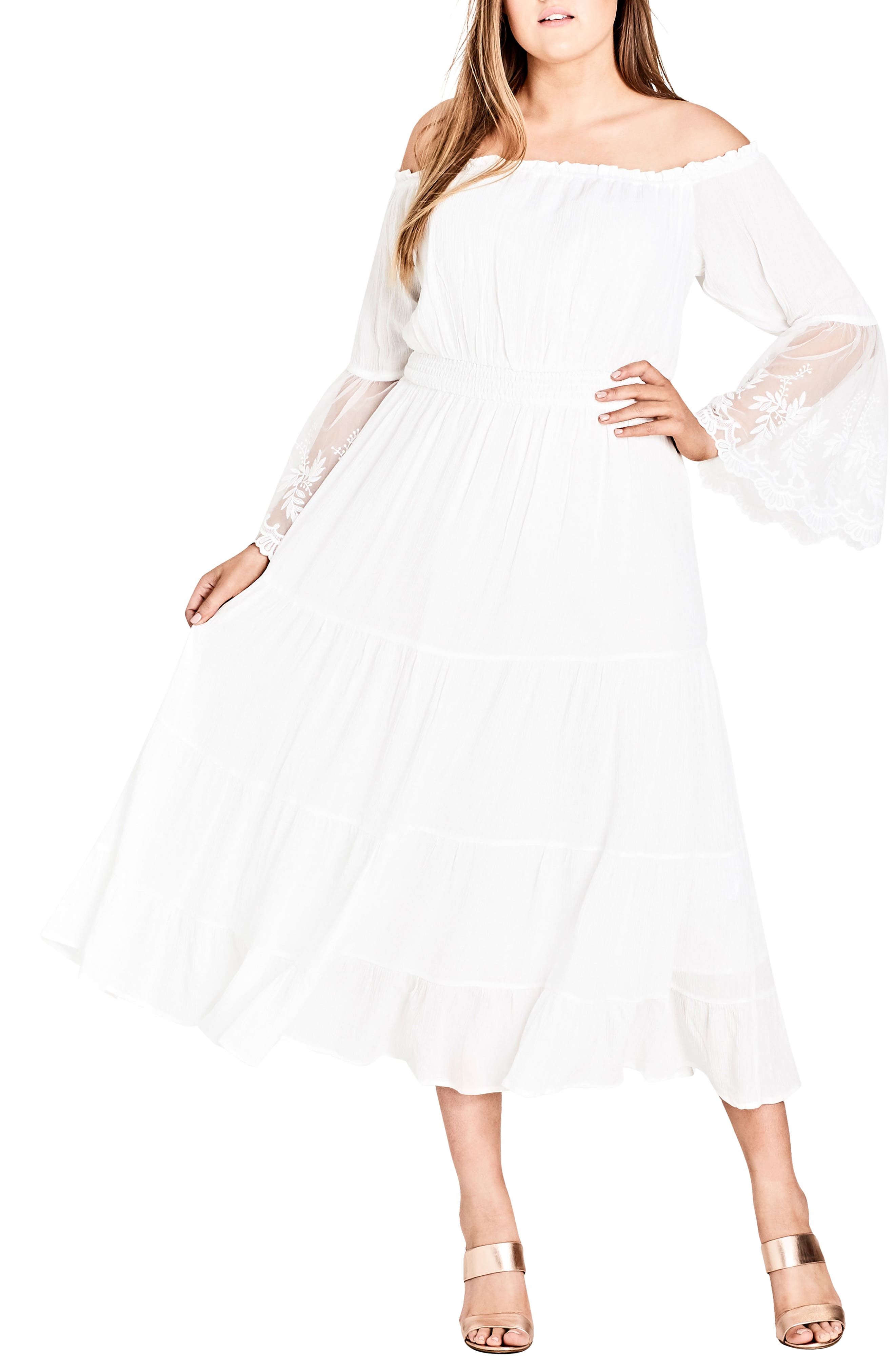 Plus Size City Chic Ethereal Maxi Dress