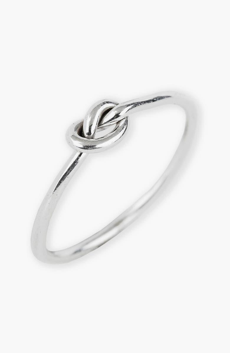 ARGENTO VIVO Mini Knot Ring, Main, color, 040