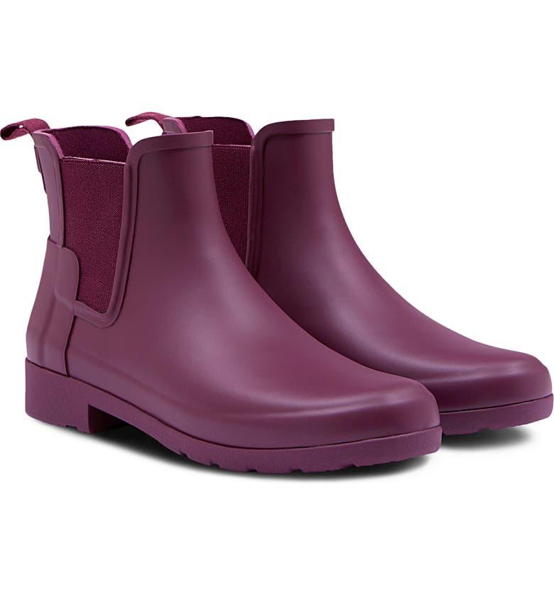 HUNTER Refined Chelsea Boot, Main, color, BALLARD