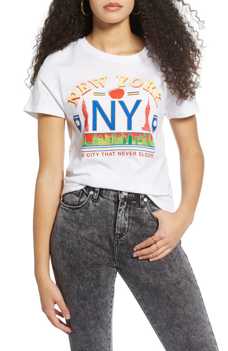 PRINCE PETER NY Vintage Tee, Main, color, WHITE