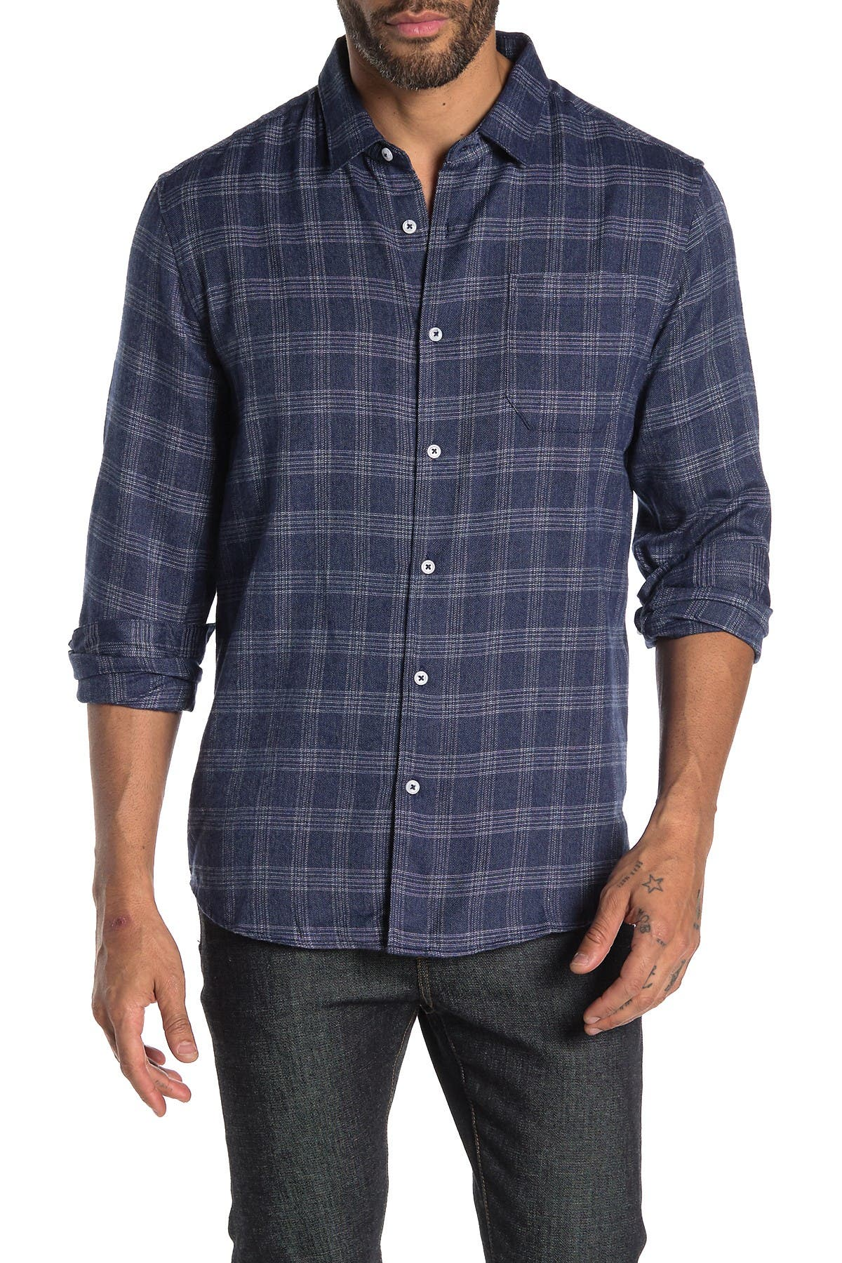 Image of 7 Diamonds Back To Me Plaid Flannel Shirt