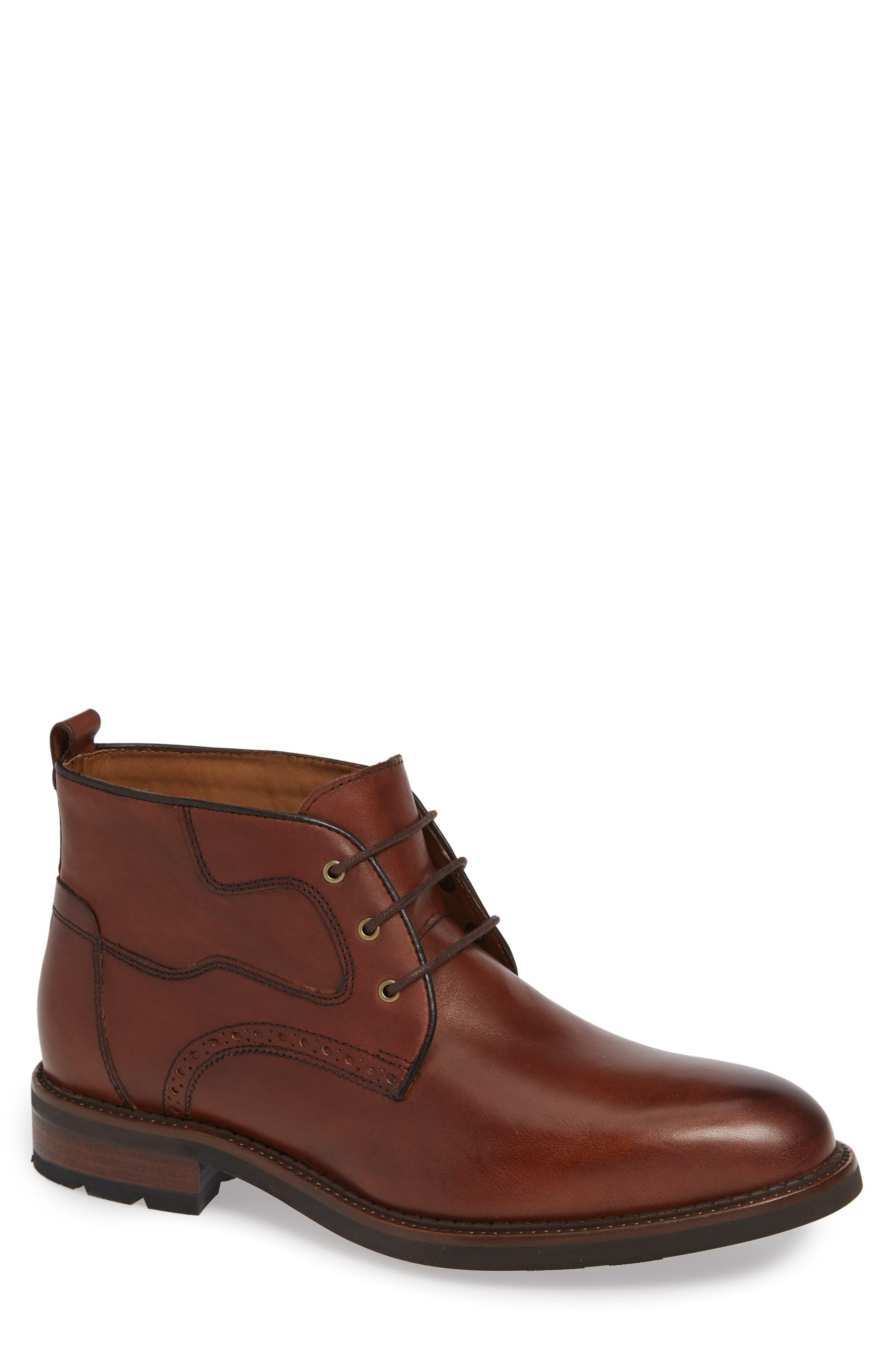 J & m 1850 Fullerton Chukka Boot- Brown