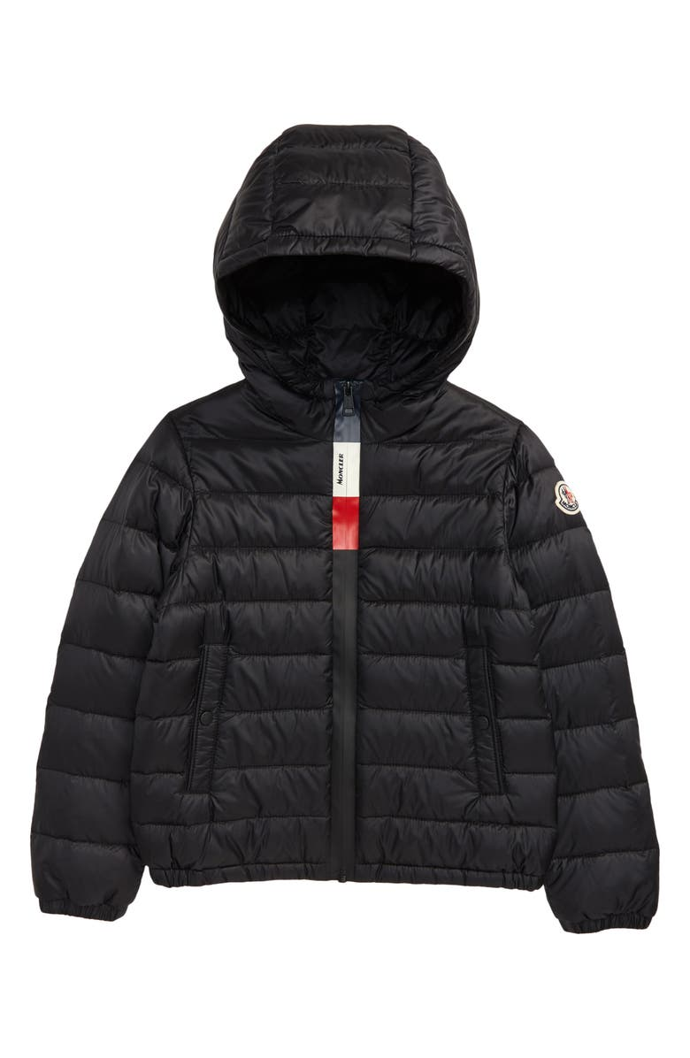 MONCLER Quilted Down Jacket, Main, color, BLACK