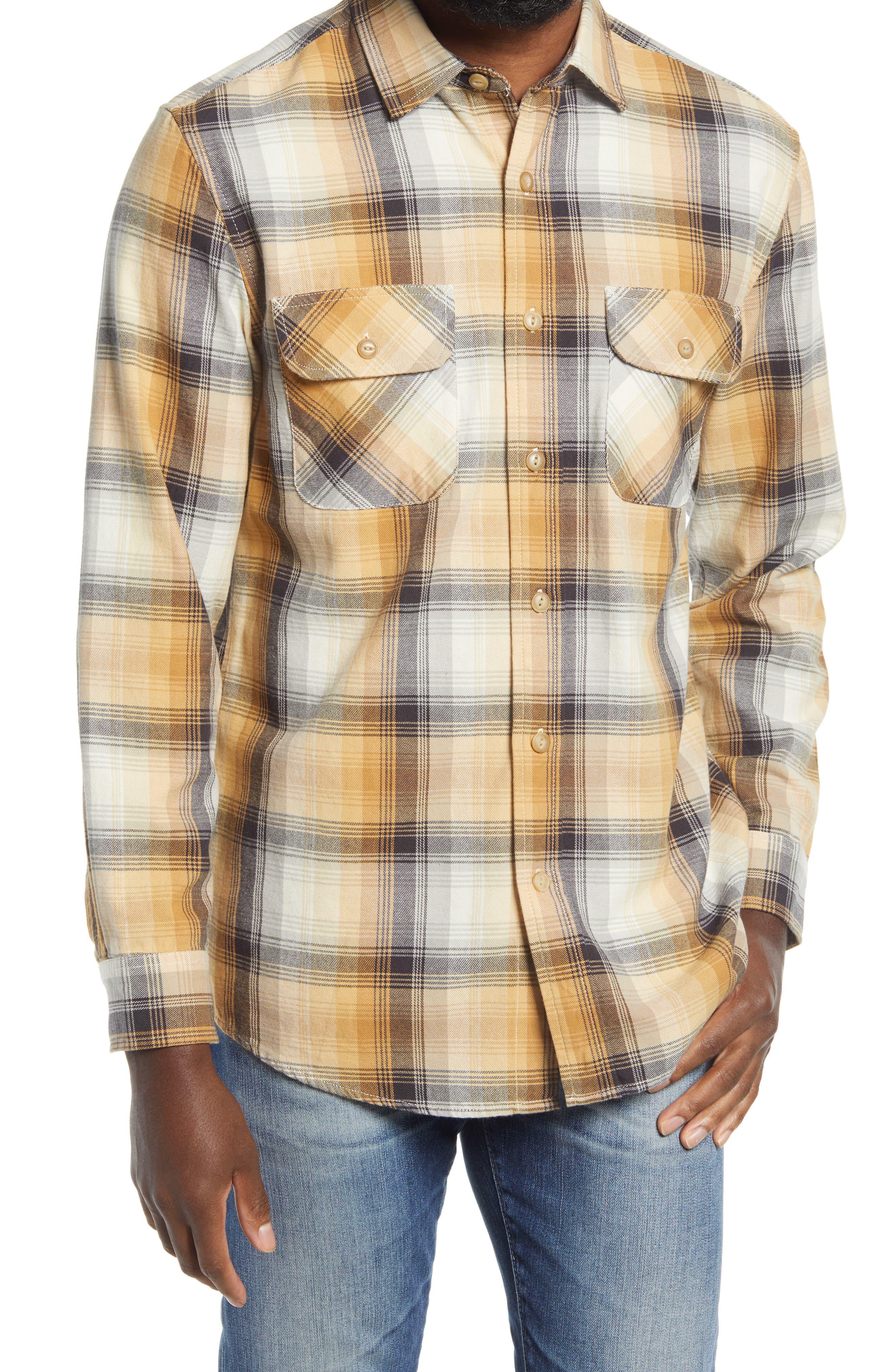 Easy 1940s Men's Fashion Guide Mens Pendleton Beach Shack Plaid Button-Up Shirt Size X-Large - Brown $89.50 AT vintagedancer.com
