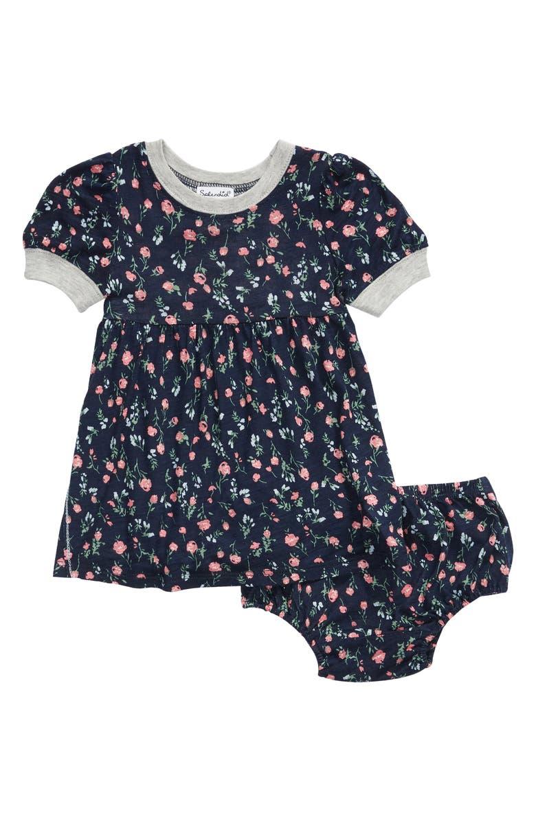 SPLENDID Floral Print Dress, Main, color, BLUE