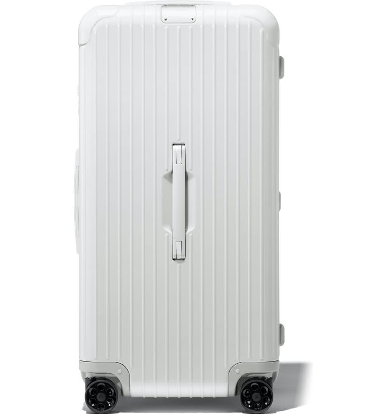 RIMOWA Essential Trunk Plus 32-Inch Wheeled Suitcase, Main, color, WHITE