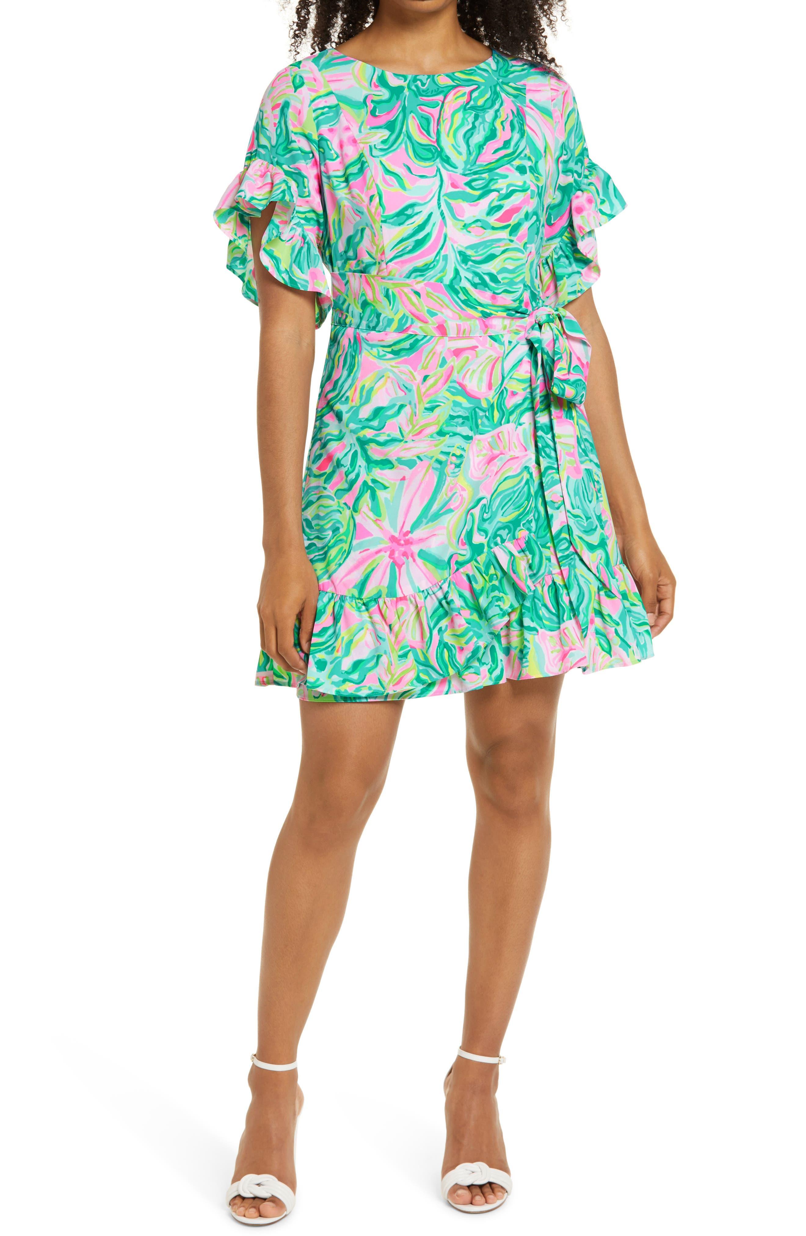 Women's Lilly Pulitzer Darlah Print Ruffle Dress