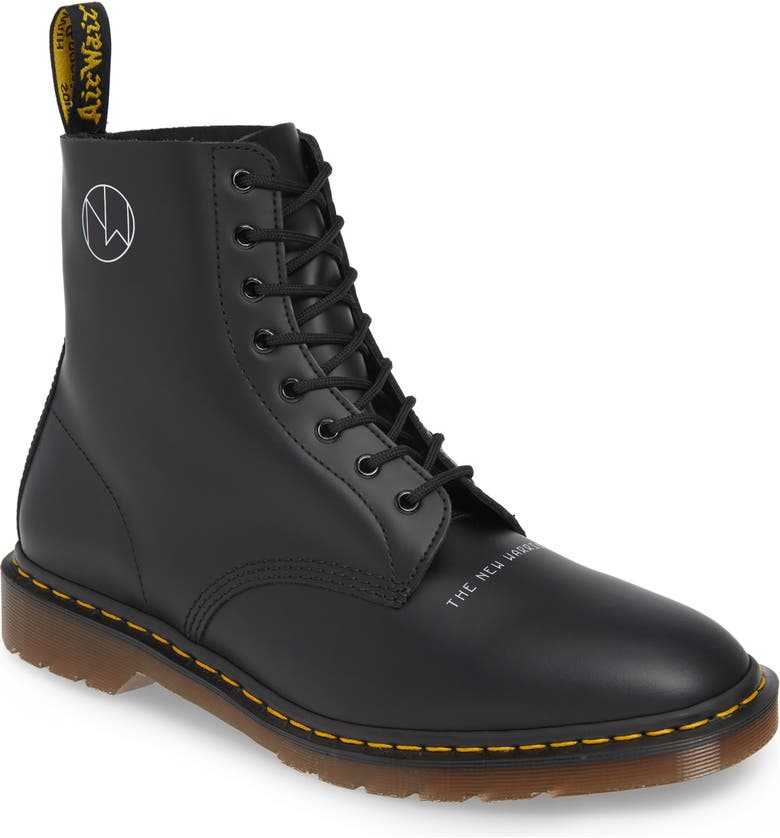 DR. MARTENS x UNDERCOVER 1460 Boot, Main, color, BLACK LEATHER