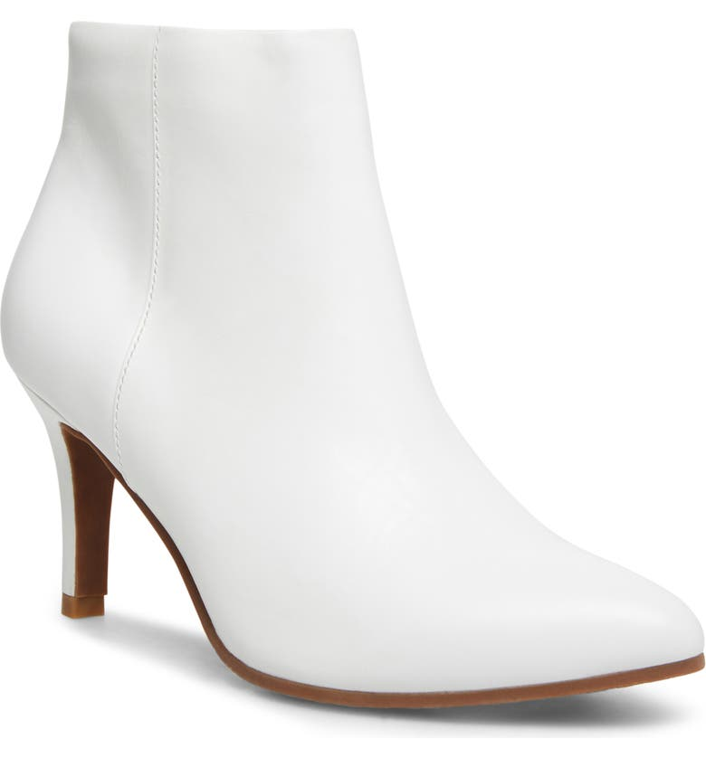BLONDO Teri Waterproof Bootie, Main, color, WHITE LEATHER