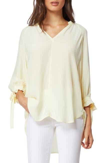 Image of Habitual Nina Tie Sleeve Ruffle Blouse