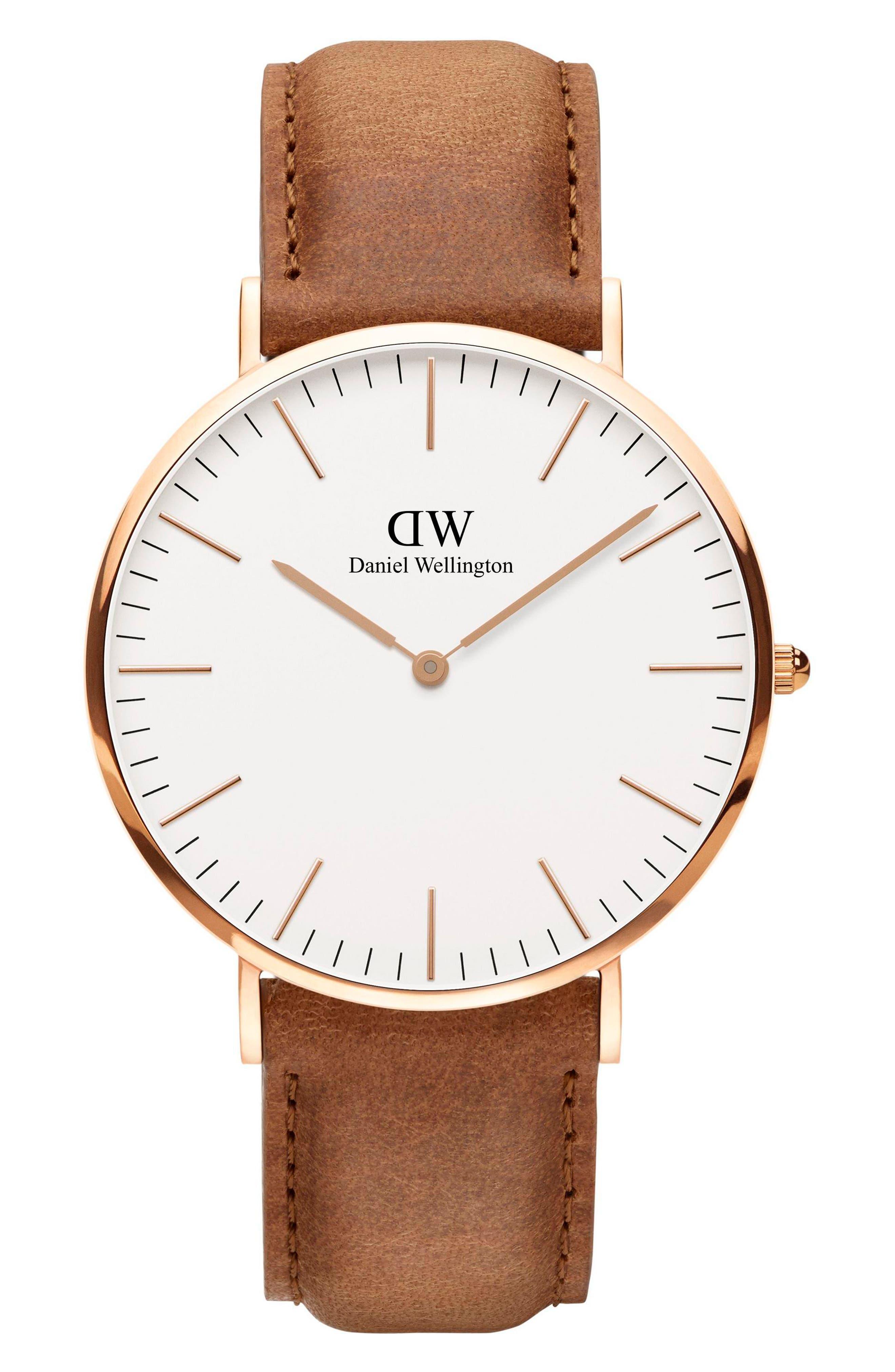 Classic Durham Leather Strap Watch
