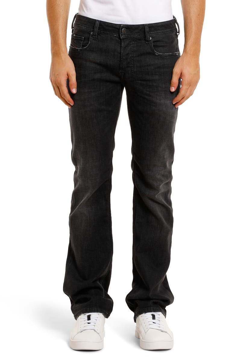 DIESEL<SUP>®</SUP> Zatiny Bootcut Stretch Jeans, Main, color, BLACK