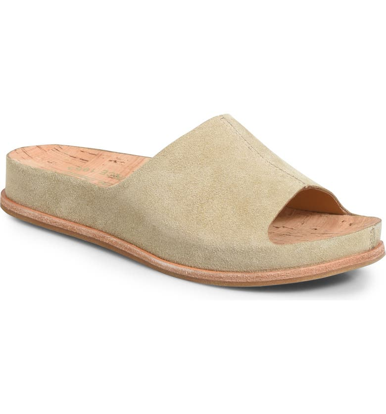 KORK-EASE<SUP>®</SUP> 'Tutsi' Slide Sandal, Main, color, NATURAL SUEDE