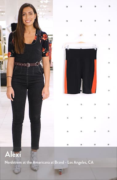 x Claudia Sulewski Side Stripe Biker Shorts, sales video thumbnail