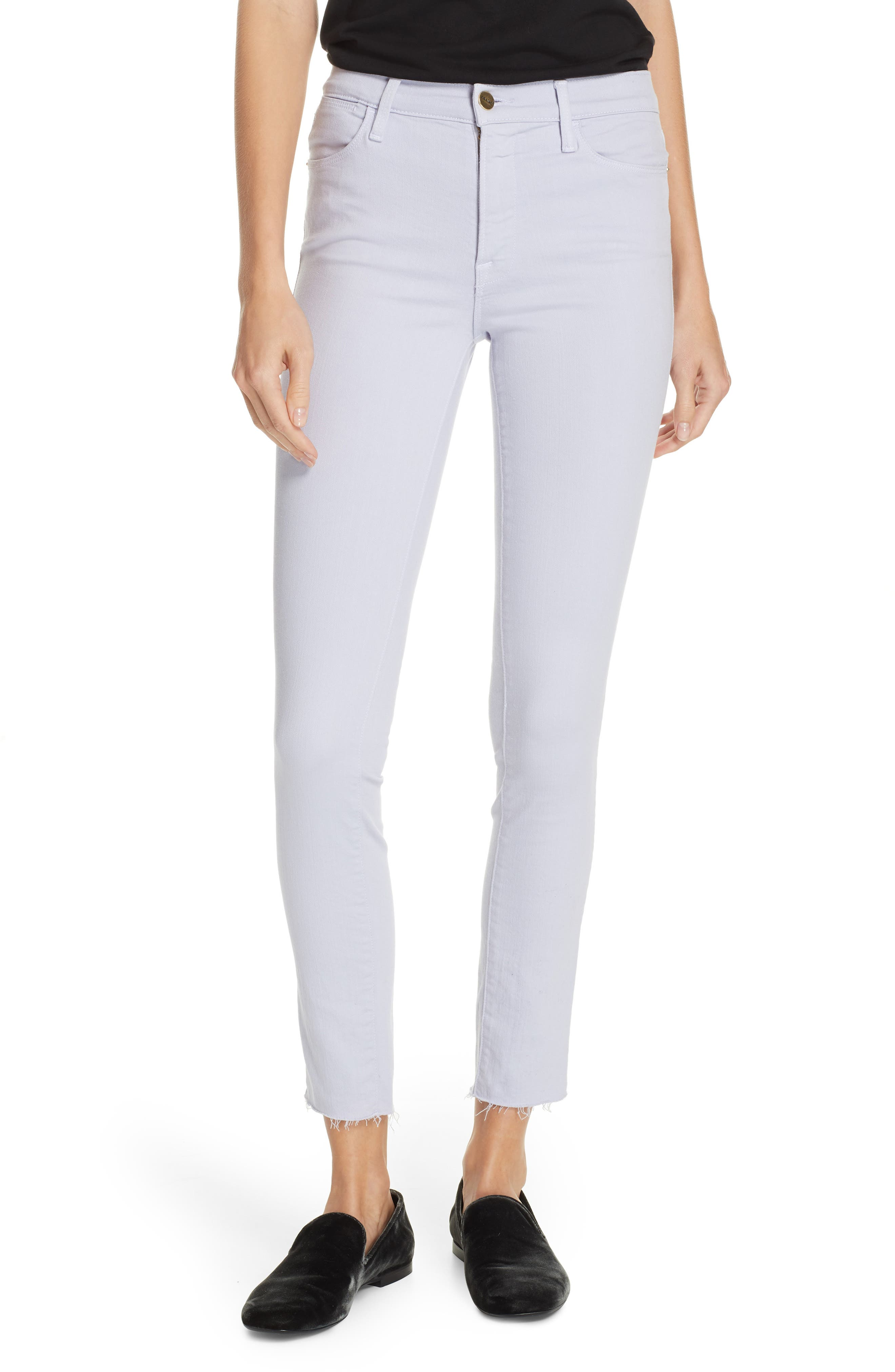 ,                             Le High Raw Hem Ankle Skinny Jeans,                             Main thumbnail 1, color,                             530