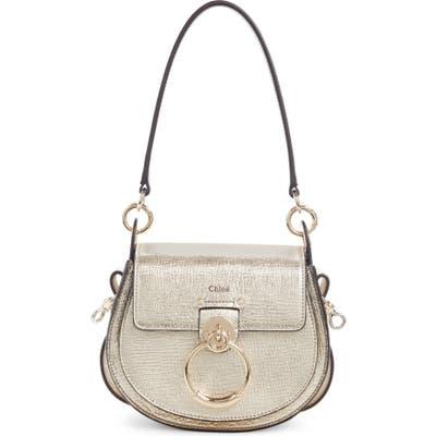 Chloe Small Tess Metallic Leather Shoulder Bag - Metallic