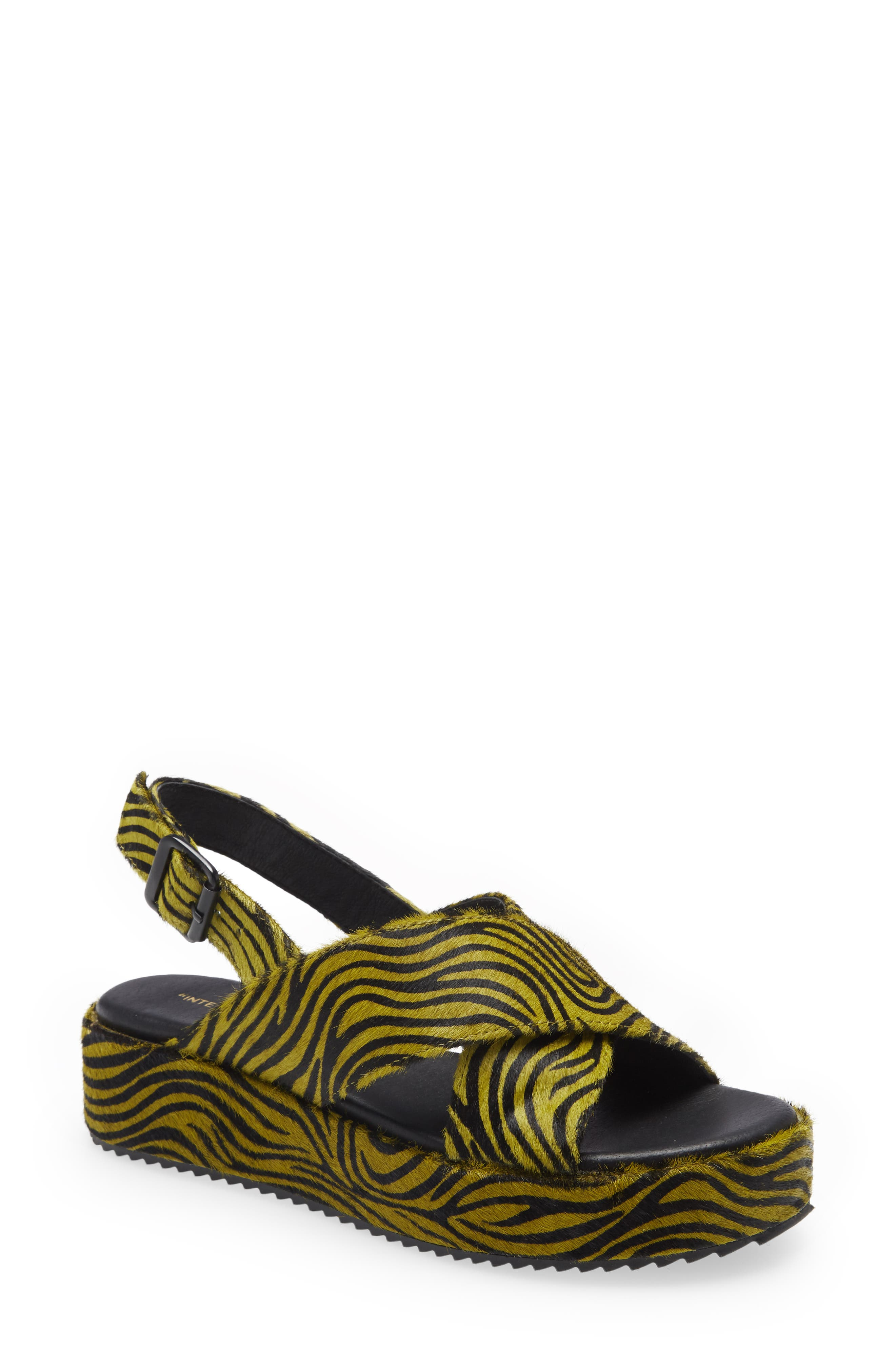 Sum Genuine Calf Hair Platform Sandal